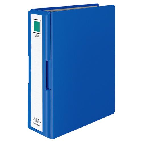 コクヨ 取っ手付きチューブファイル(エコツイン) A4タテ 800枚収容 80mmとじ 背幅95mm 青 フ-UT1680B 1冊
