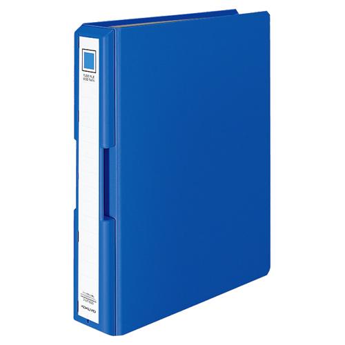 コクヨ 取っ手付きチューブファイル(エコツイン) A4タテ 500枚収容 50mmとじ 背幅65mm 青 フ-UT1650B 1冊