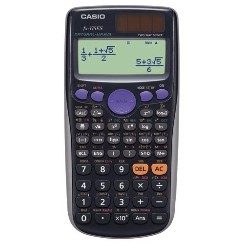 カシオ 関数電卓 10桁 ハードケース付 FX-375ES-N 1台