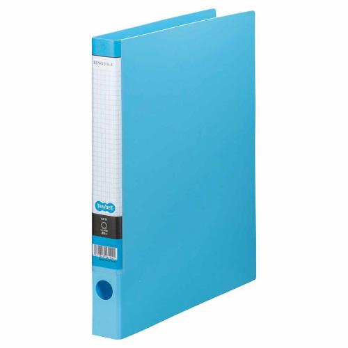 TANOSEE Oリングファイル A4タテ 2穴 170枚収容 背幅35mm ライトブルー 1冊