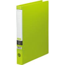 TANOSEE Oリングファイル A4タテ 2穴 170枚収容 背幅35mm ライトグリーン 1冊