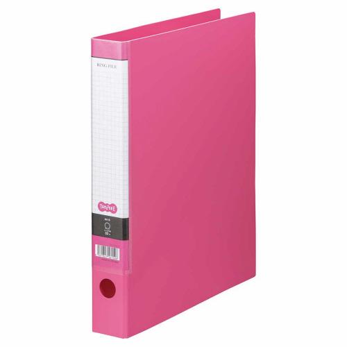 TANOSEE Oリングファイル A4タテ 2穴 250枚収容 背幅44mm ピンク 1冊