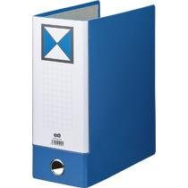TANOSEE 片開きパイプ式ファイルKJ(指かけ穴付) A4タテ 1000枚収容 100mmとじ 背幅116mm 青 1冊