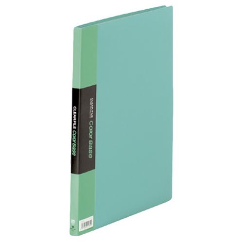 キングジム クリアーファイル カラーベース A4タテ 20ポケット 背幅14mm 緑 132C 1冊