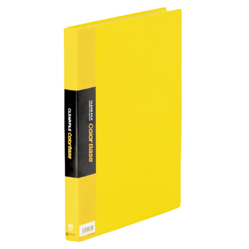キングジム クリアーファイル カラーベースW A4タテ 40ポケット 背幅24mm 黄 132CW 1冊
