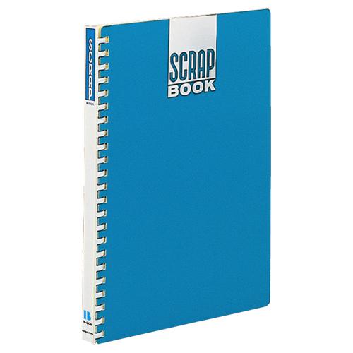 コクヨ スクラップブックB(替紙式) A4 23穴 クラフト台紙40枚付 背幅18mm 青 ラ-20B 1冊