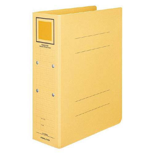 コクヨ チューブファイル(カラーボードツイン) A4タテ 500枚収容 50mmとじ 背幅62mm 黄 フ-T1650Y 1冊