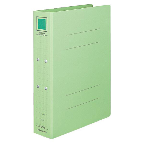 コクヨ チューブファイル(カラーボードツイン) A4タテ 800枚収容 80mmとじ 背幅92mm 緑 フ-T1680G 1冊