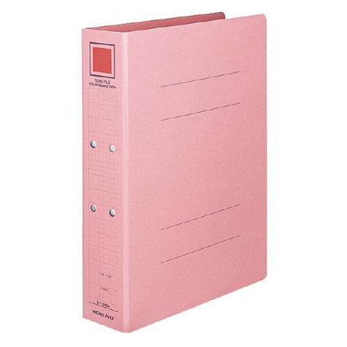 コクヨ チューブファイル(カラーボードツイン) A4タテ 800枚収容 80mmとじ 背幅92mm ピンク フ-T1680P 1冊