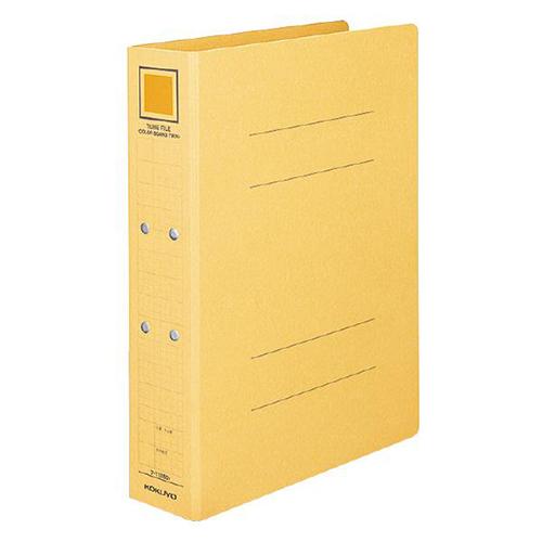 コクヨ チューブファイル(カラーボードツイン) A4タテ 800枚収容 80mmとじ 背幅92mm 黄 フ-T1680Y 1冊