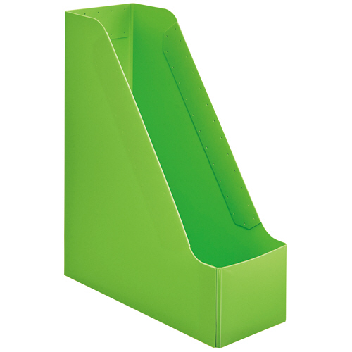 TANOSEE PP製ボックスファイル(組み立て式) A4 タテ グリーン 1個
