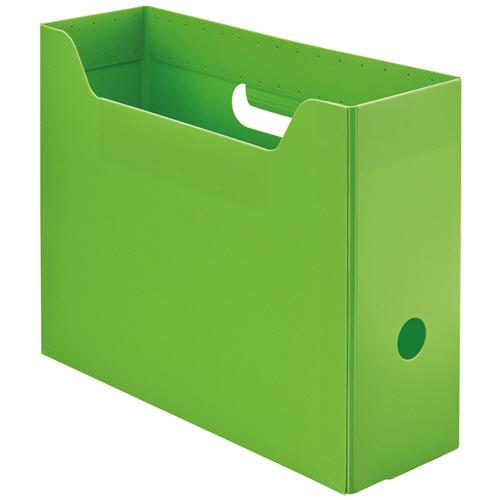 TANOSEE PP製ボックスファイル(組み立て式) A4 ヨコ グリーン 1個