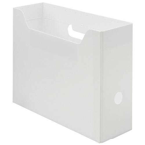 TANOSEE PP製ボックスファイル(組み立て式) A4 ヨコ ホワイト 1個