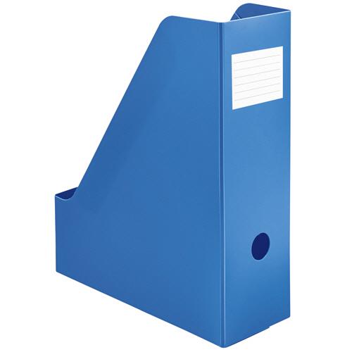 TANOSEE PP製ボックスファイル(組み立て式) A4 タテ ブルー 1個