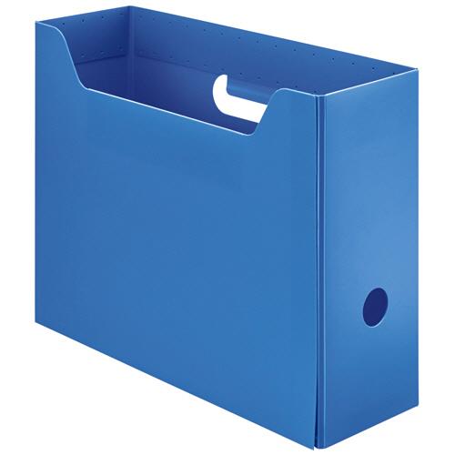 TANOSEE PP製ボックスファイル(組み立て式) A4 ヨコ ブルー 1個