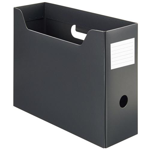 TANOSEE PP製ボックスファイル(組み立て式) A4 ヨコ グレー 1個