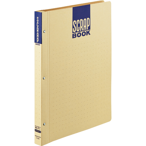コクヨ スクラップブックD(とじ込み式・ドットガイド入り) A4 中紙28枚 背幅25mm クラフト ラ-D40 1冊