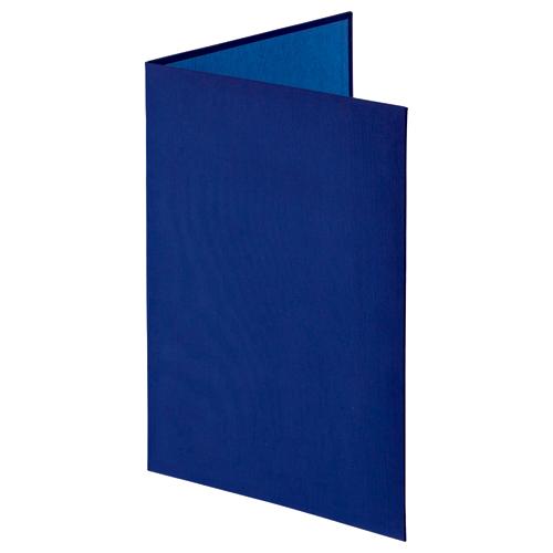ナカバヤシ 証書ファイル 布クロス A4 二つ折り 透明コーナー貼り付けタイプ 紺 FSH-A4C-B 1冊
