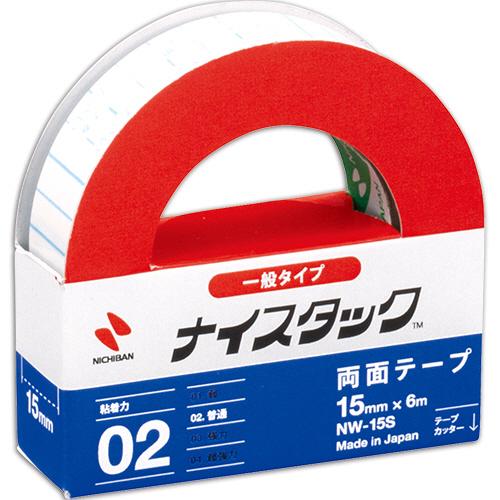 ニチバン ナイスタック 再生紙両面テープ 小巻 15mm×6m NW-15S 1巻