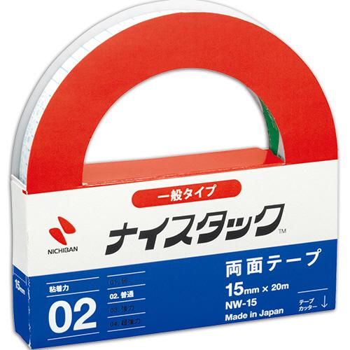 ニチバン ナイスタック 再生紙両面テープ 大巻 15mm×20m NW-15 1巻