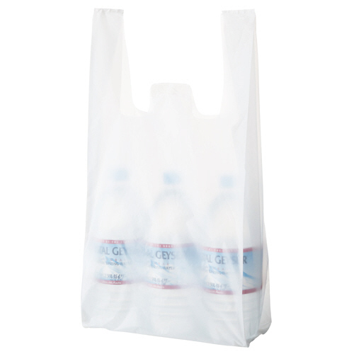 TANOSEE 乳白レジ袋 35号 ヨコ260×タテ530×マチ幅130mm 1パック(100枚)