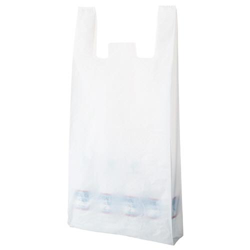 TANOSEE 乳白レジ袋 80号 ヨコ370×タテ800×マチ幅180mm 1パック(100枚)