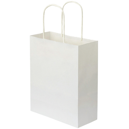 TANOSEE 紙手提袋 丸紐 特小 ヨコ200×タテ245×マチ幅90mm 白無地 1パック(50枚)