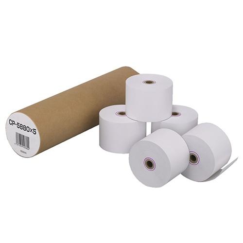 カシオ 電子レジスター用 ロールペーパー 紙幅58mm 240ER専用 CP-5880X5 1パック(5個)