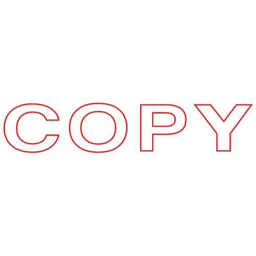TANOSEE スタンパー 「COPY」 赤 1個