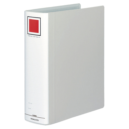 コクヨ チューブファイル(エコツインR) A4タテ 700枚収容 70mmとじ 背幅85mm シルバー フ-RT670C 1冊