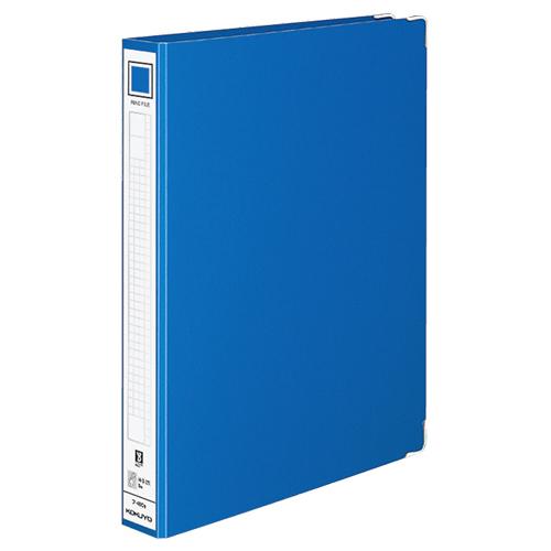 コクヨ リングファイル 色厚板紙表紙 A4タテ 2穴 220枚収容 背幅44mm 青 フ-480NB 1冊
