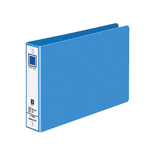 コクヨ リングファイル 色厚板紙表紙 B6ヨコ 2穴 220枚収容 背幅38mm 青 フ-408NB 1冊