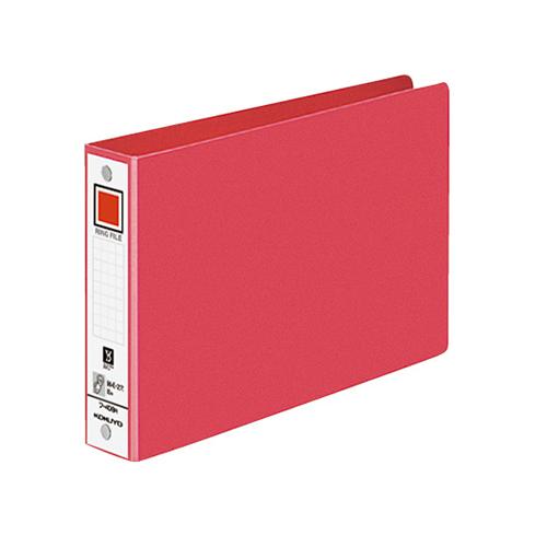 コクヨ リングファイル 色厚板紙表紙 B6ヨコ 2穴 220枚収容 背幅38mm 赤 フ-408NR 1冊