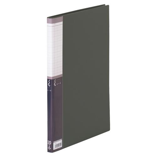 キングジム クリアーファイルSE A4タテ 20ポケット 背幅14mm 黒 5136 1冊