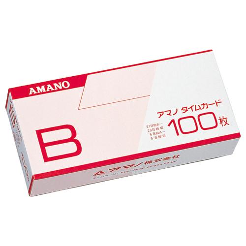 アマノ 標準タイムカード Bカード 20日締/5日締 1パック(100枚)