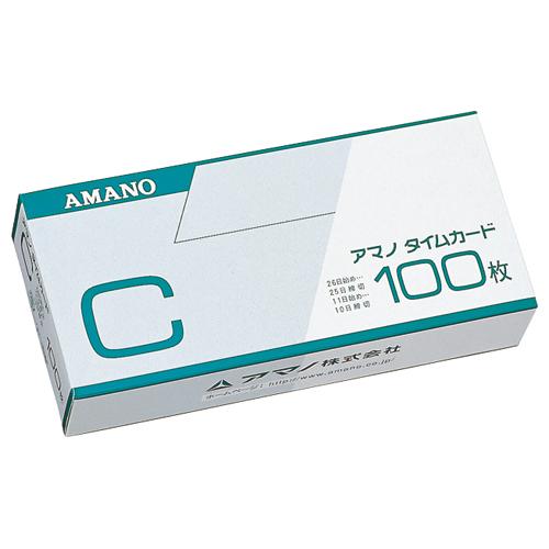 アマノ 標準タイムカード Cカード 25日締/10日締 1パック(100枚)
