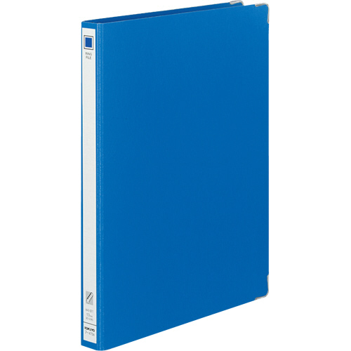 コクヨ リングファイル 色厚板紙 A4タテ 30穴 背幅30mm 青 フ-470B 1冊