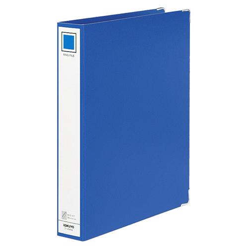 コクヨ リングファイル 色厚板表紙 A4タテ 4穴 310枚収容 背幅54mm 青 フ-494NB 1冊