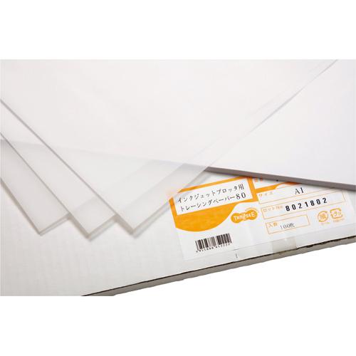 TANOSEE インクジェットプロッタ用トレペ A2カット紙 420×594mm 1箱(100枚)