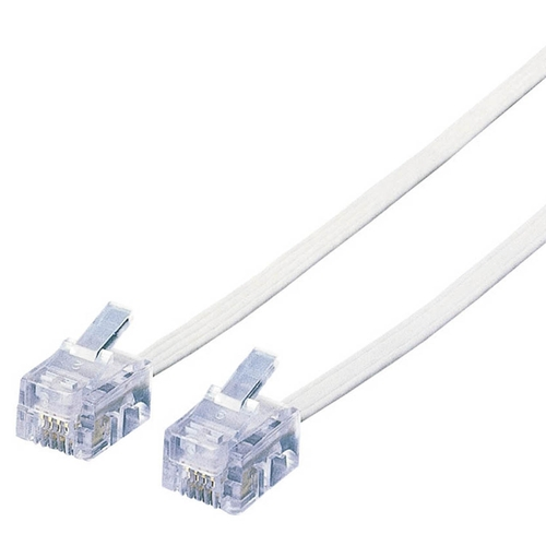 エレコム スリムモジュラケーブル 6極4芯 ホワイト 10m MJ-10WH 1本