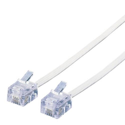 エレコム スリムモジュラケーブル 6極4芯 ホワイト 15m MJ-15WH 1本