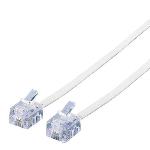 エレコム スリムモジュラケーブル 6極4芯 ホワイト 20m MJ-20WH 1本