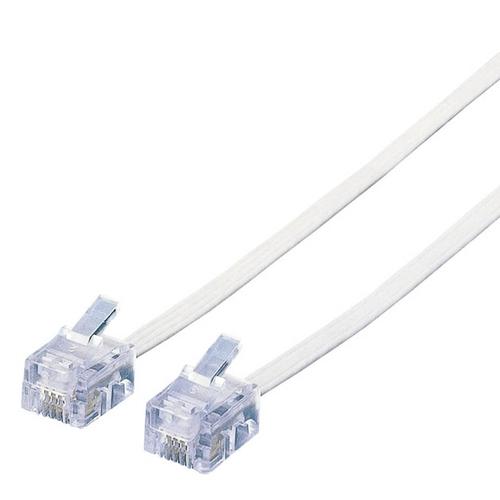 エレコム スリムモジュラケーブル 6極4芯 ホワイト 3m MJ-3WH 1本