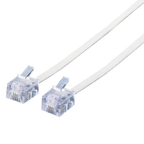 エレコム スリムモジュラケーブル 6極4芯 ホワイト 5m MJ-5WH 1本