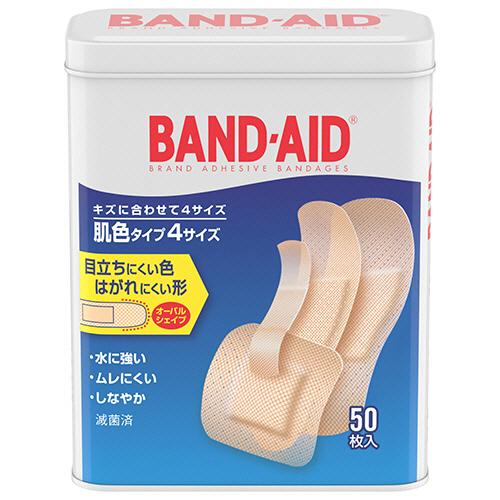 ジョンソン・エンド・ジョンソン バンドエイド 肌色タイプ 4サイズ 1箱(50枚)