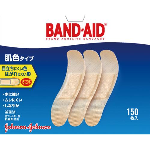 ジョンソン・エンド・ジョンソン バンドエイド 肌色タイプ スタンダードサイズ 1箱(150枚)