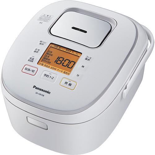 パナソニック IHジャー炊飯器 1升炊き ホワイト SR-HB188-W 1台