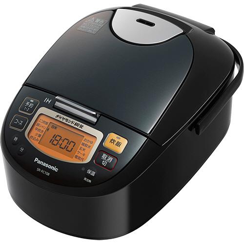 パナソニック IHジャー炊飯器 5.5合炊き ステンレスブラック SR-FC108-K 1台