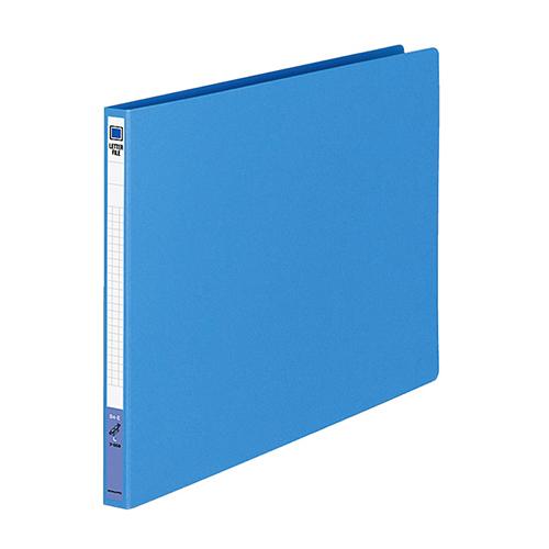 コクヨ レターファイル(色厚板紙) B4ヨコ 120枚収容 背幅20mm 青 フ-559B 1冊