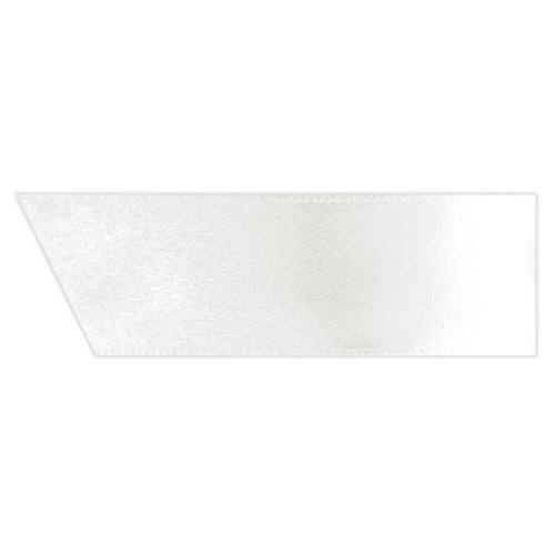 ヘッズ 片面サテンリボン 幅19mm×20m ホワイト 1950R 1巻
